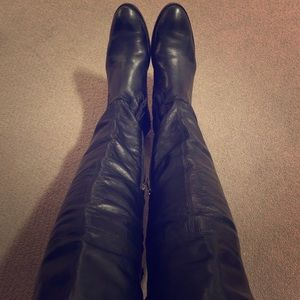 Frye over the knee Shirley boot in black leather